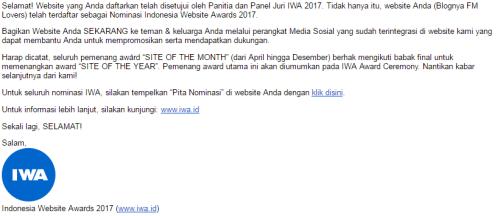 Nominasi IWA